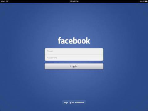 Facebook pentru New iPad