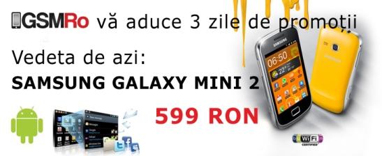 Promotie Samsung Galaxy Mini 2