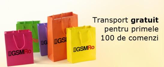 Transport gratuit pentru primele 100 de comenzi
